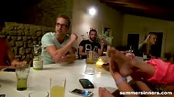 Summersinners Eating Pussy At The Dinner Table